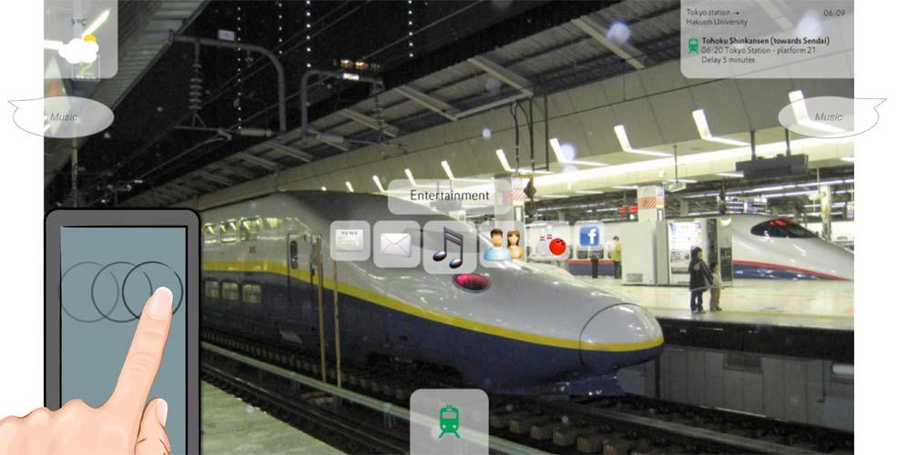 Head mounted displays in Tokyo railway station